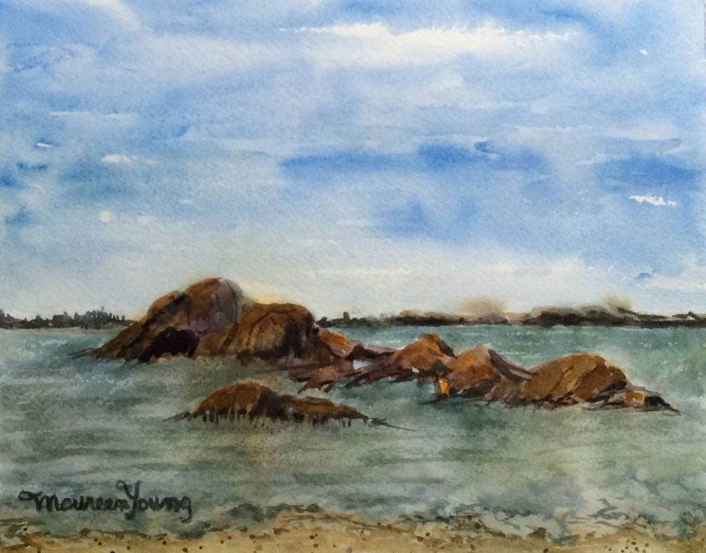 Warren S Point Little Compton Ri Painting By Maureen Young Little Compton Beach Life Rhode Island