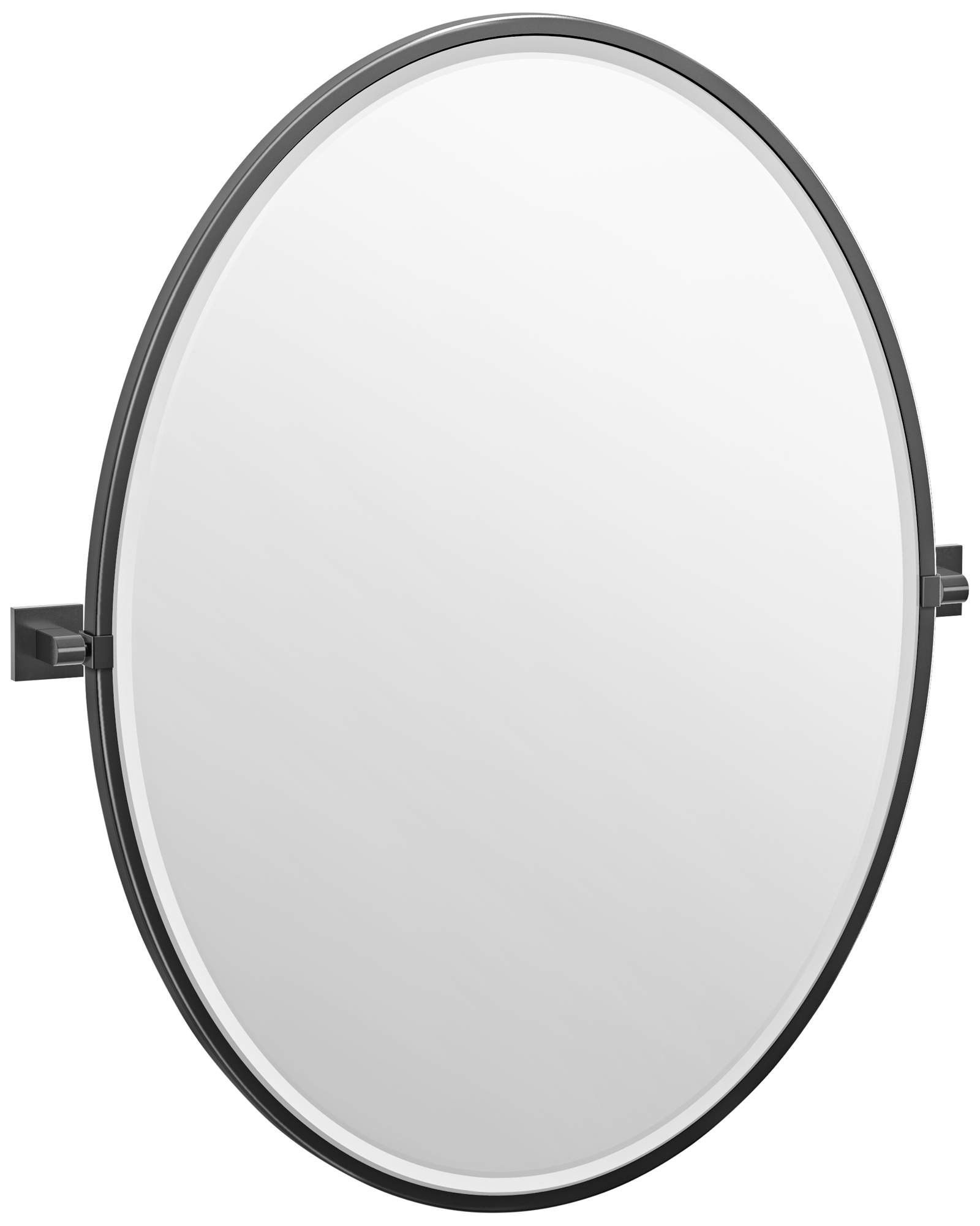Elevate Matte Black 28 And One Quarter Inch X 33 Inch Oval Framed