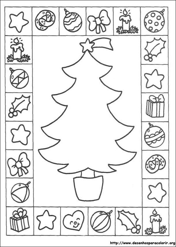 Arvores De Natal Para Imprimir E Pintar Desenhos Natalinos Para