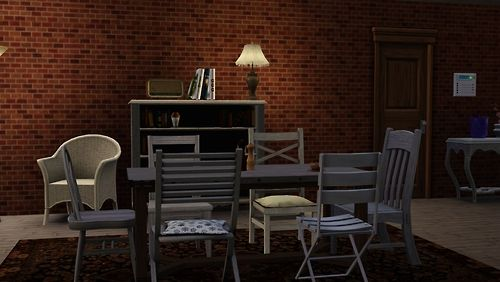 Sims 3 Model of Mary Margarets' apartment...my dream apartment style!
