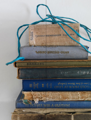 books and blue