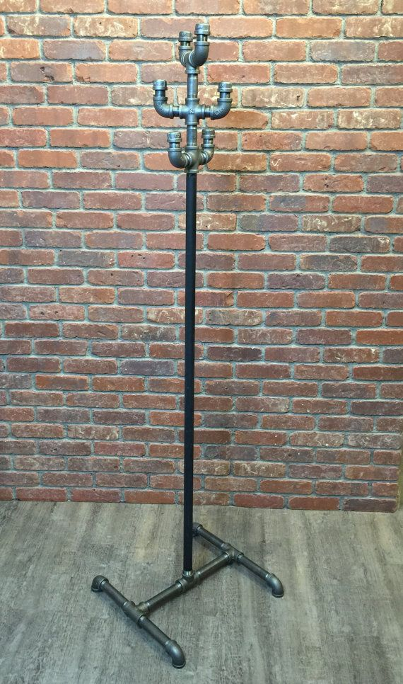Industrial Coat Rack Stand Vintage Style Clothing Pipe Rack Delectable Vintage Standing Coat Rack