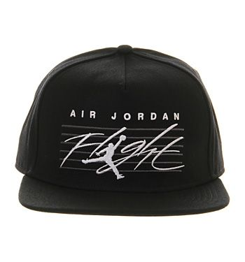 cf98695e2173b9 Nike Jordan Nike Jordan Snapback Cap Black White Flight - Sports Accessories