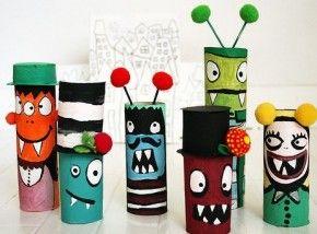 De stoere jongensvariant van knutselen met wc rollen. Art attack! :-)