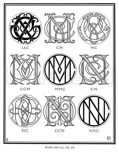 Llc Cm Mc Ccm Mmc Cn Nc Ccn Nnc Monogram Letters Monogram Tattoo Monogram Logo Design
