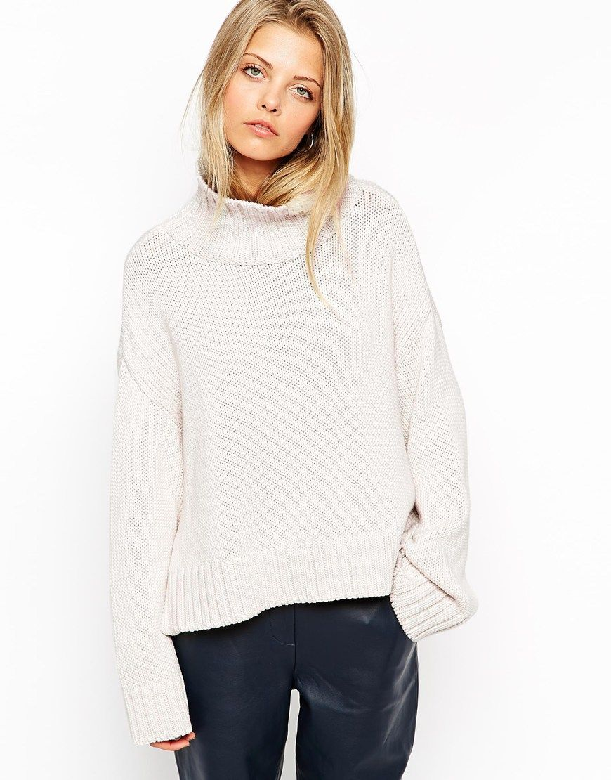 ASOS / Chunky Jumper With Turtle Neck And Wide Sleeves ...