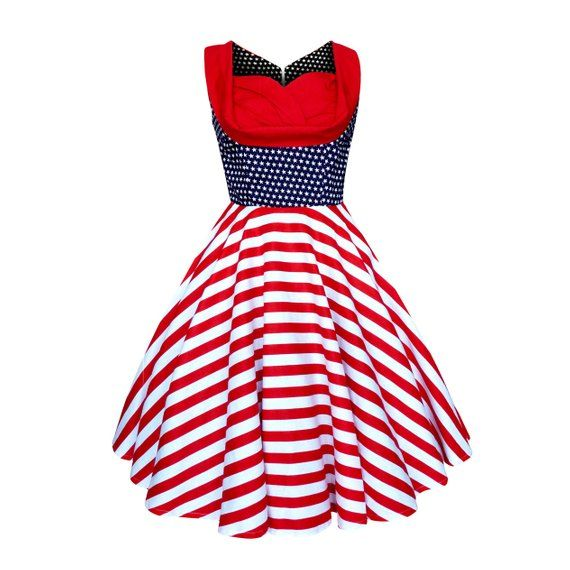 7af24c1bdc94c Plus Size Independence Day Dress 4th of July Dress USA Dress Patriotic Dress  Vintage Dress Retro Swi