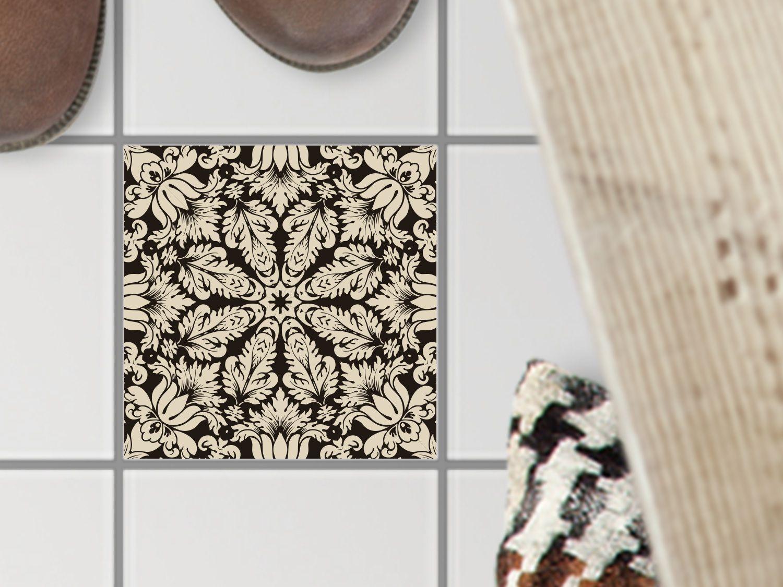 Fußboden Fliesen Aufkleber ~ Selbstklebende bodenfliese marokkanisch küche wand fliesen