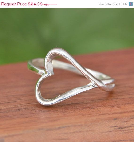 Hey, I found this really awesome Etsy listing at https://www.etsy.com/listing/202686814/sale-sterling-silver-heart-ring-heart