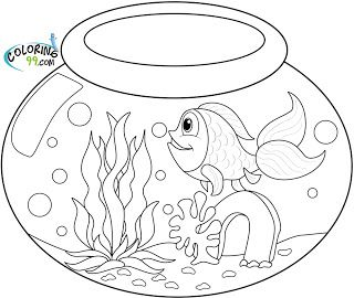 Goldfish Coloring Pages | 1 | Pinterest | Goldfish