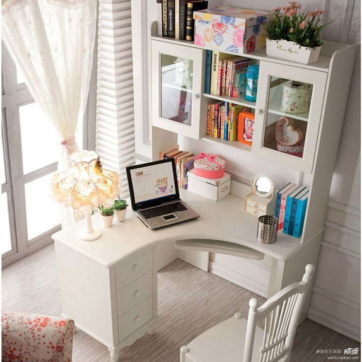 41 Sophisticated Ways To Style Your Home Office. White Corner DeskSmall ...