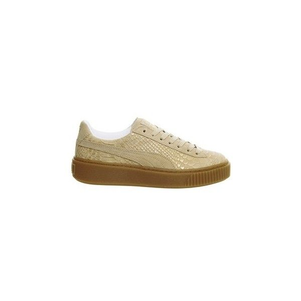 bb3a85985 Suede Platform Trainers by Puma ($100) ❤ liked on Polyvore featuring shoes,  sneakers, cream, puma shoes, suede shoes, cream shoes, puma trainers and  suede ...