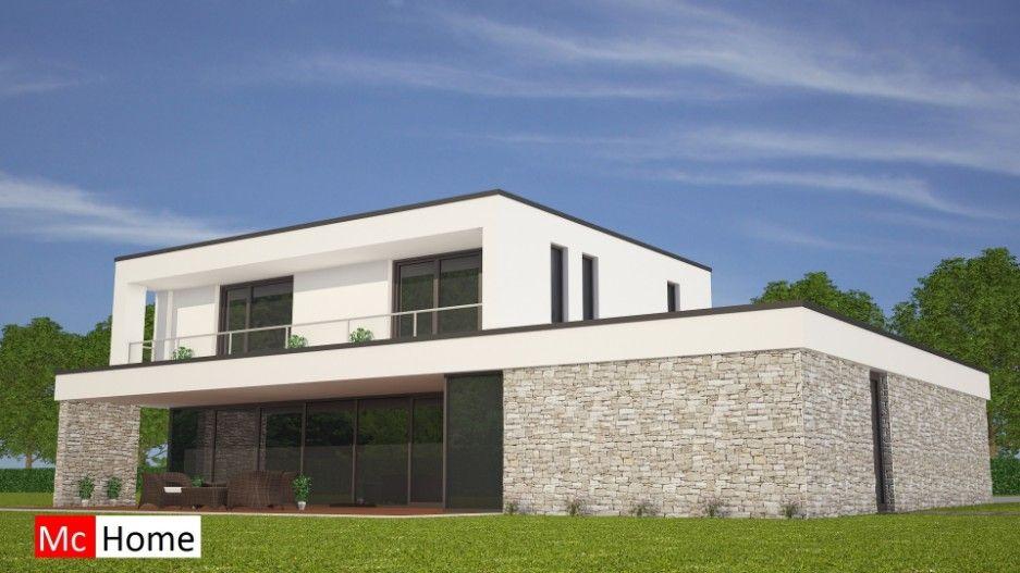 Mc home architectuur kubistische woning m v dakterras
