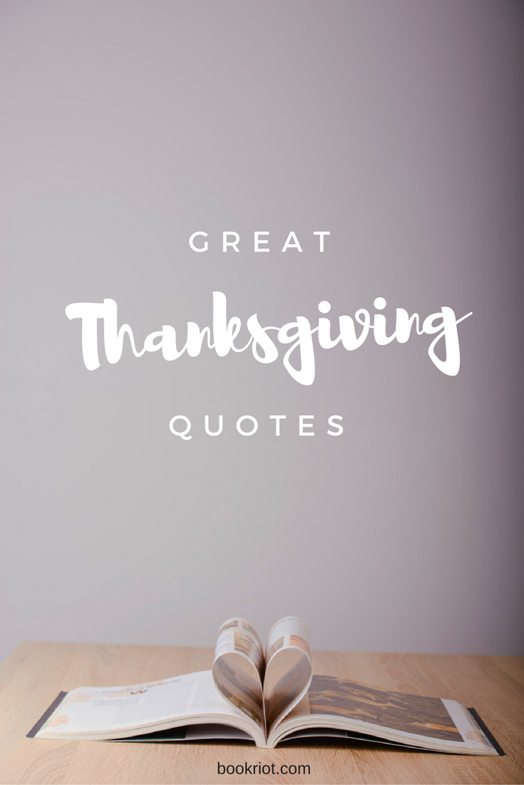 10 Literary Quotes for Thanksgiving