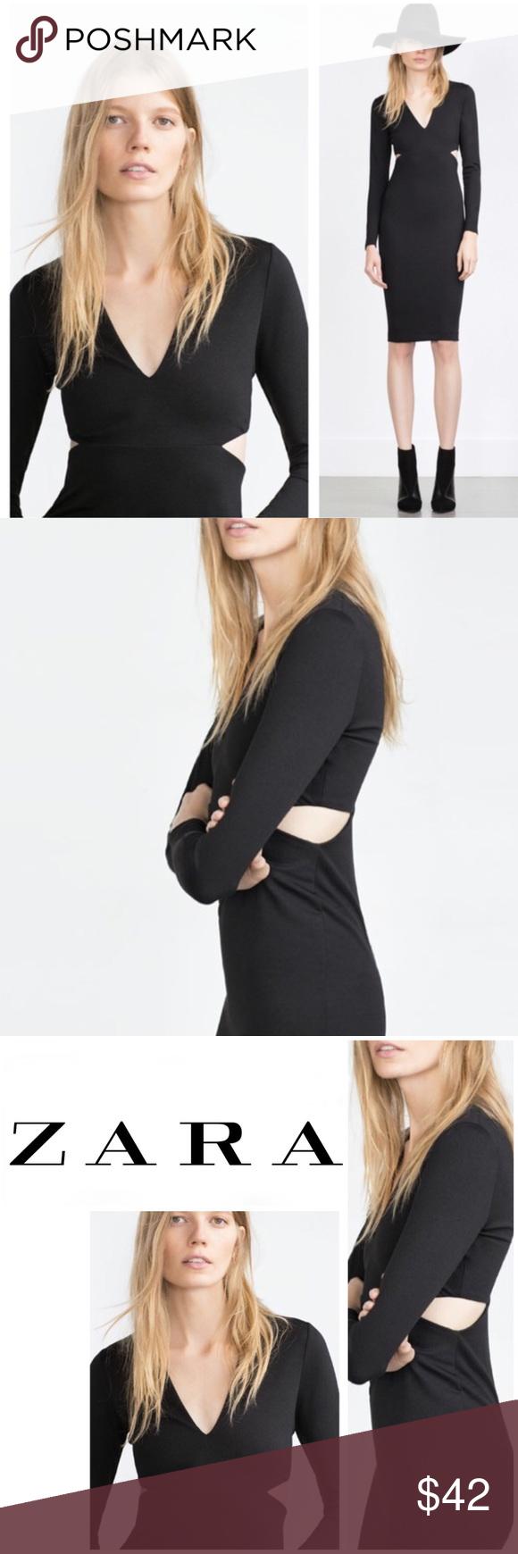 Z a r a black cut out dress in my posh closet pinterest