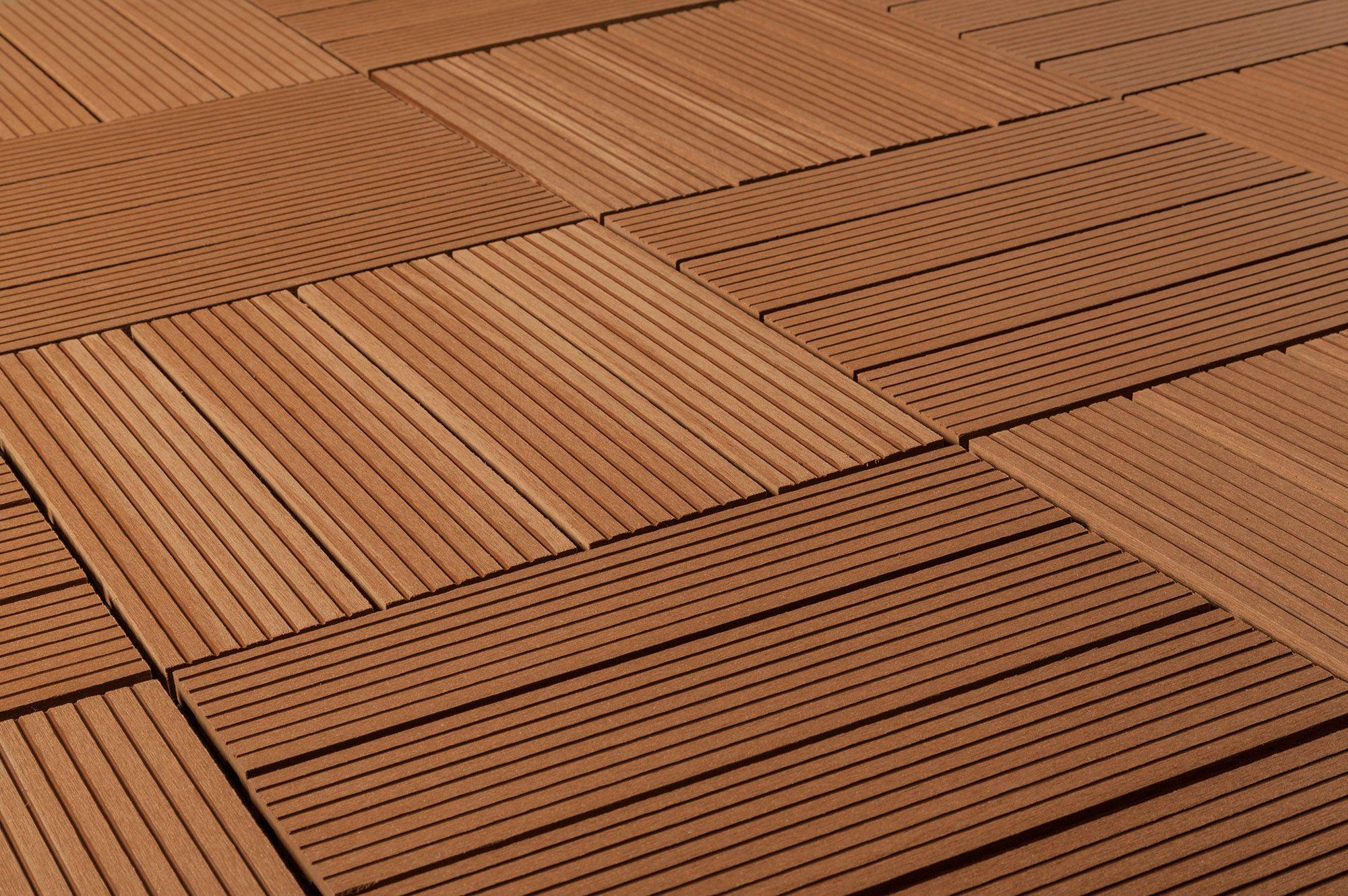 Composite Interlocking Deck Tiles Classic 25 Year Redwood