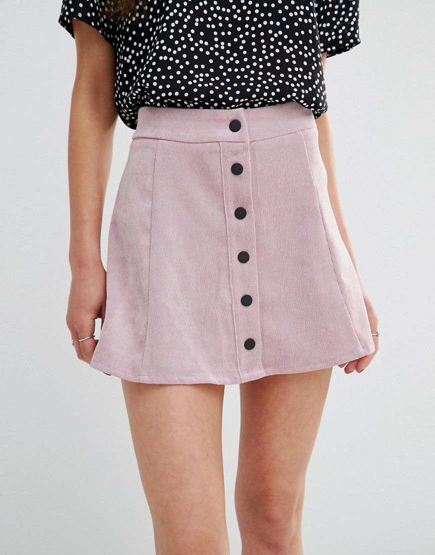 Image 3 of Glamorous Petite Button Up Cord A Line Skirt | Dream ...