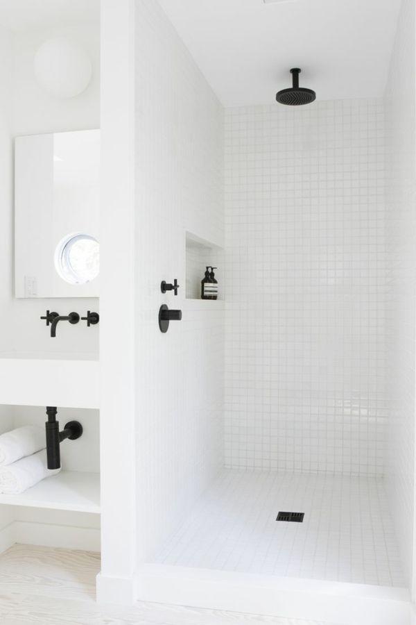 dusche renovieren moderne badezimmerarmatur in schwarz | bad, Hause ideen