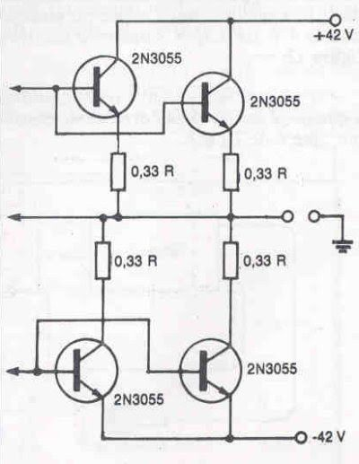 Módulo de potência Profissional 90 a 130 watts 4 Módulo de potência Profissional 90 a 130 watts RMS em 8 ohms por canal circuito amplificador