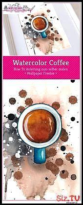 Watercolor Coffee Wallpaper Watercolor Coffee Wallpaper