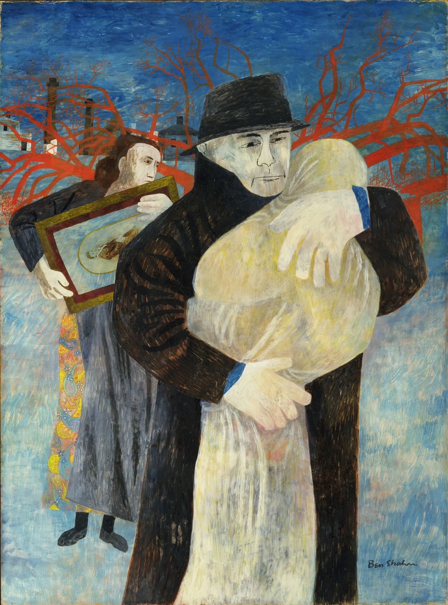 Ben Shahn. Father And Child. 1946. Tempera Cardboard
