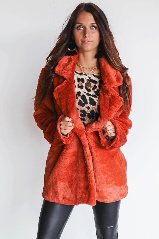 I'm Obsessed Rust Faux Fur Coat Faux fur coat, Amazing