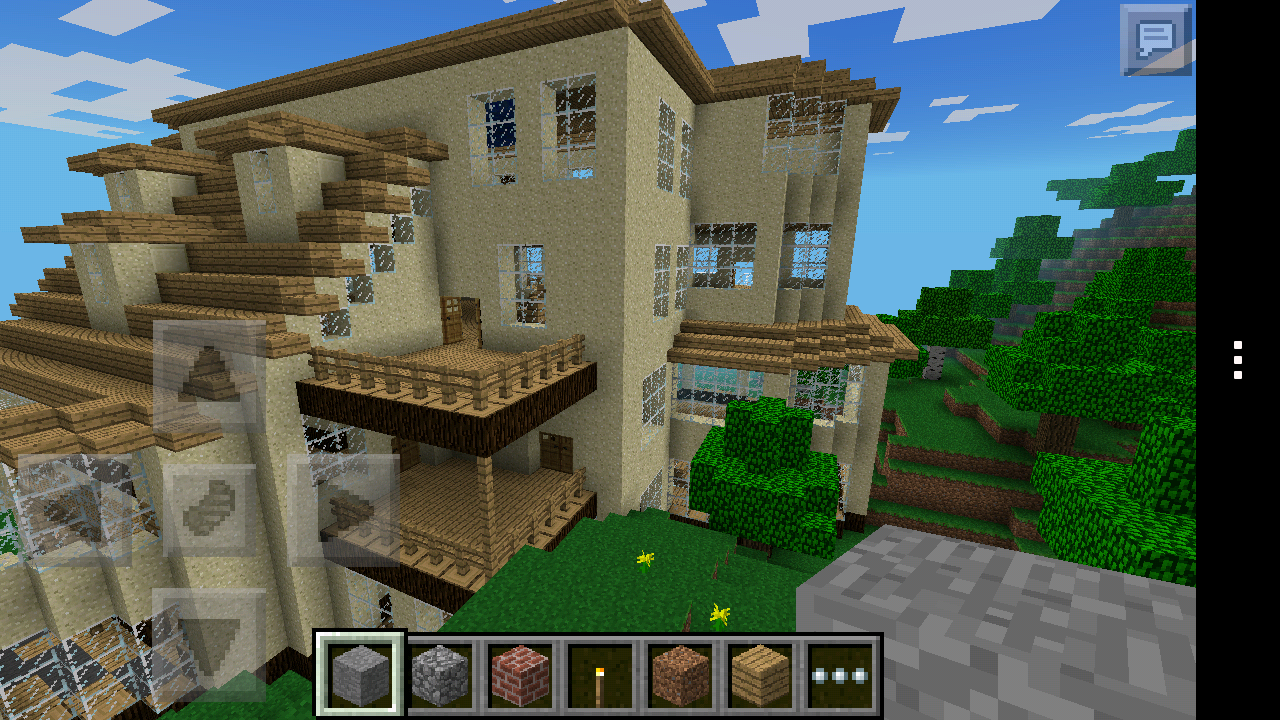 Huge Country Mansion Map Minecraft Pocket Edition