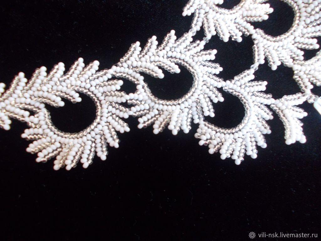 """Ожерелье """"Январь. Узоры на стекле"""". Колье. Вилия Калабина ..."""