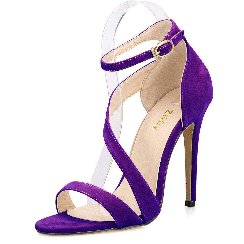 5c32d4a4244cd Amazon.com: ZriEy Women's Ladies Strappy Thin High Heel Sandals ...