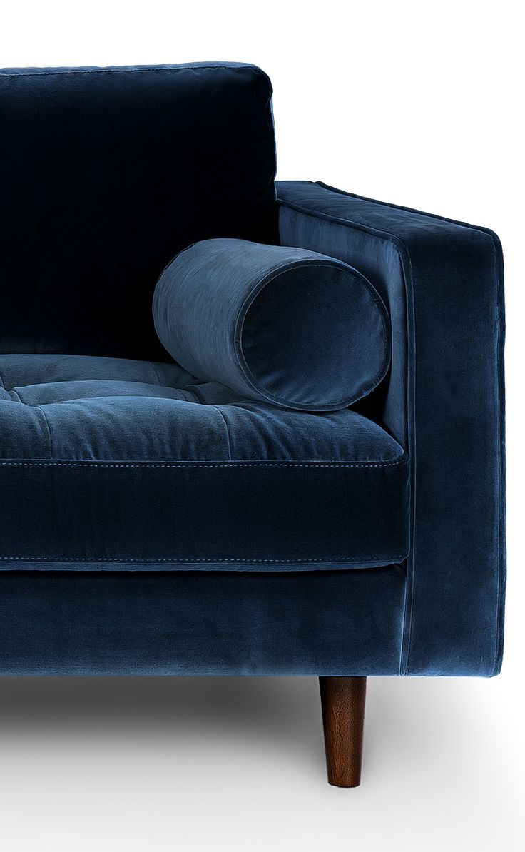 The Details Of A Navy Velvet Sofa Yum