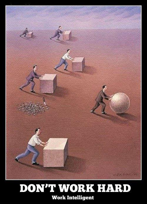 funny cartoon don't work hard work intelligent | TFD & 1st 5 min