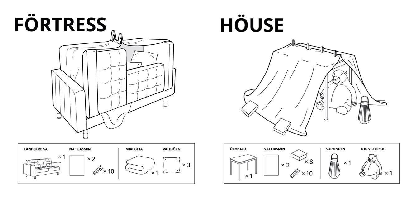 Official IKEA instructions for furniture fortresses!