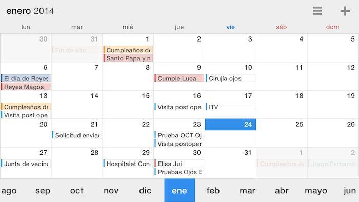 Calendars 5, otra muy buena alternativa al calendario de iOS 7