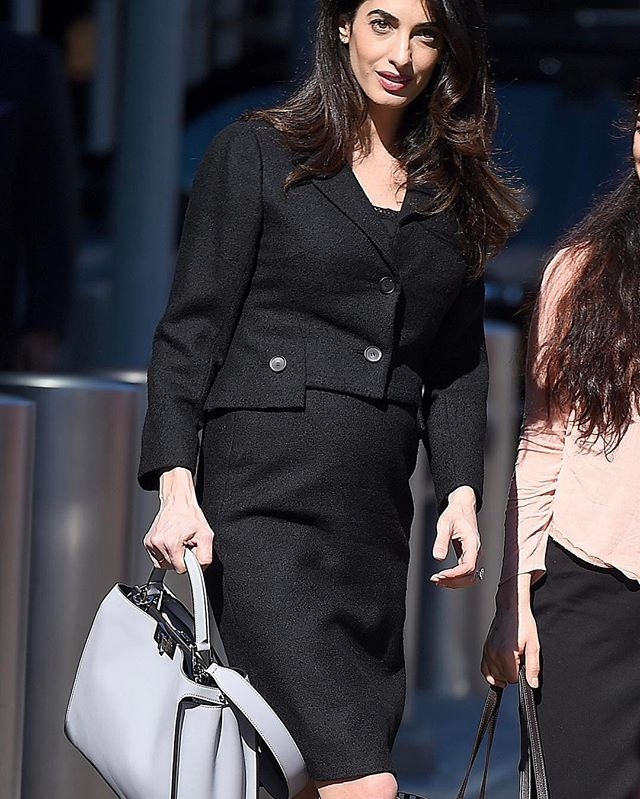 AmalClooney and her  Fendi Peekaboo Essential showing us how to take on  the world c4a19050ac189