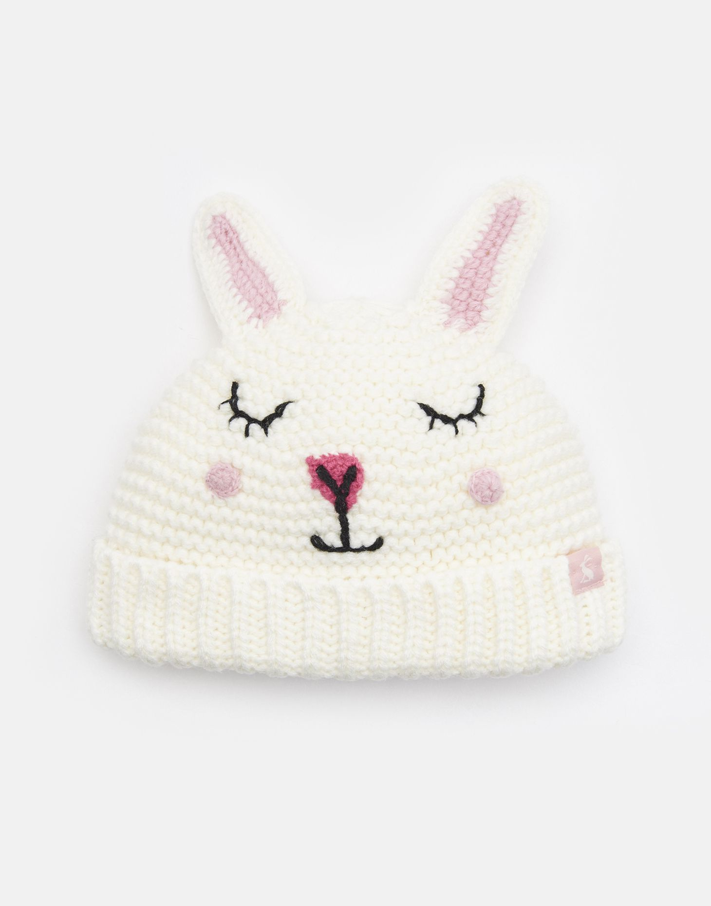 One Size Joules Womens Harper Hat Beanie Pink