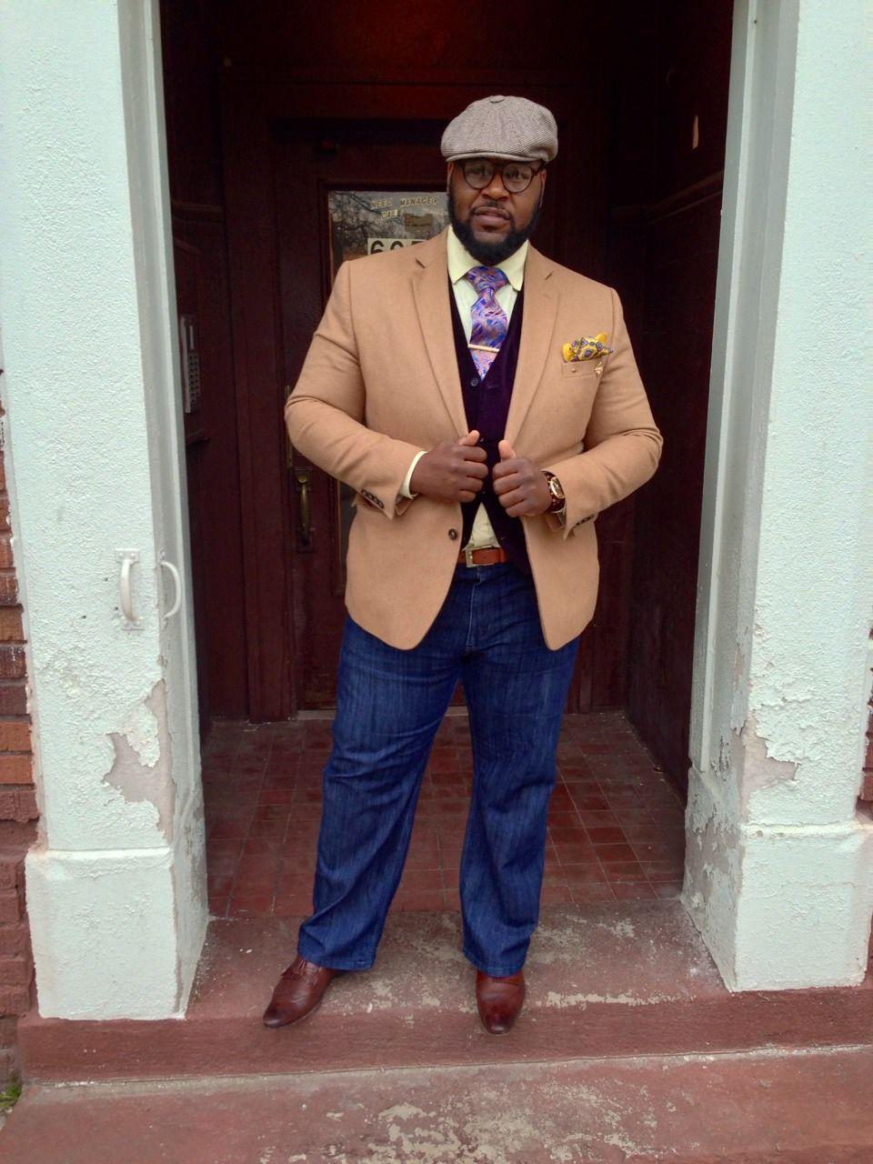 Big & Dapper   Big men fashion, Mens outfits, Well dressed men