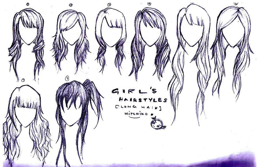 Image Anime Hairstyles For Girls With Long Hair Chicas Con