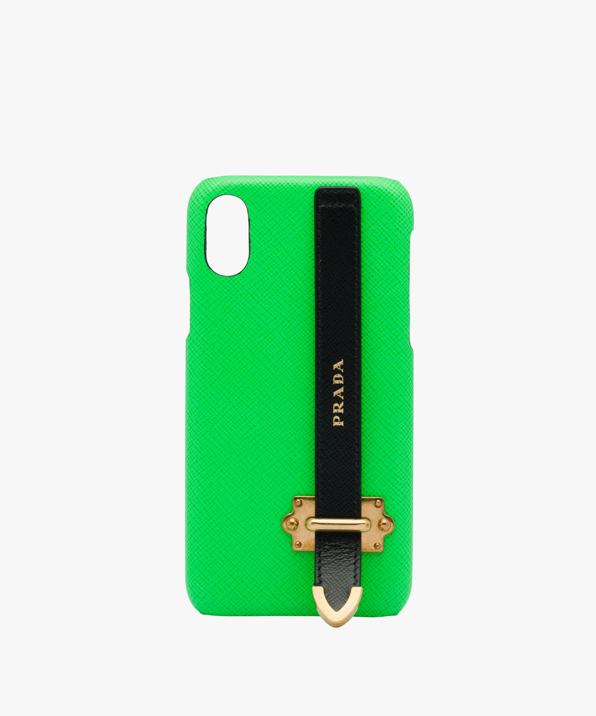 bebcca4370cf Prada - Fluorescent green Saffiano leather iPhone cover | ELECTRONIC ...