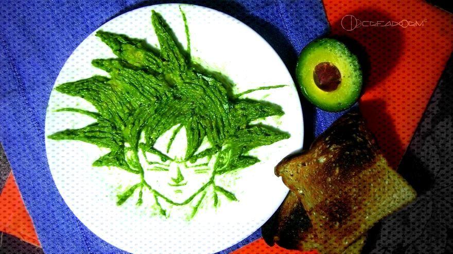 Avocado food-art: Sangoku Avocado food-art: Sangoku