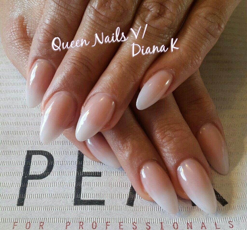 ombre babyboom nails nails nails pinterest n gel french n gel und n gel mandelform. Black Bedroom Furniture Sets. Home Design Ideas