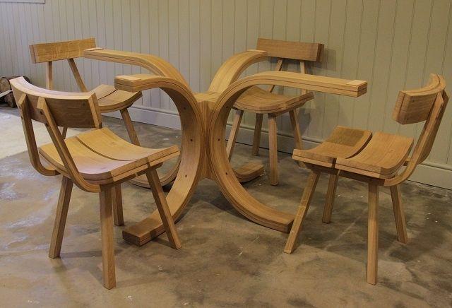bespoke dining room furniture | steam bend wood ideas | pinterest