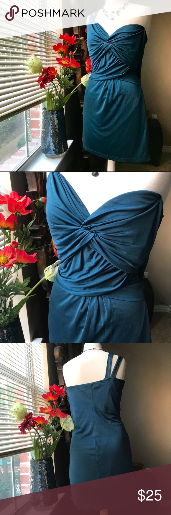 Vs Moda International Teal Dress Teal Cocktail Dress Teal Dress One Shoulder Cocktail Dress [ 1740 x 580 Pixel ]