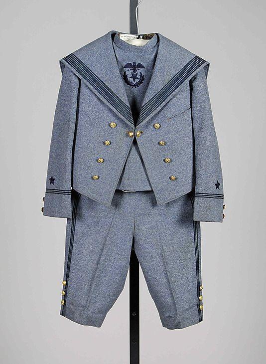 Sailor suitSailor suit Best & Co.  (American, 1879–1969) Date: ca. 1897 Culture: American Medium: Wool, silk