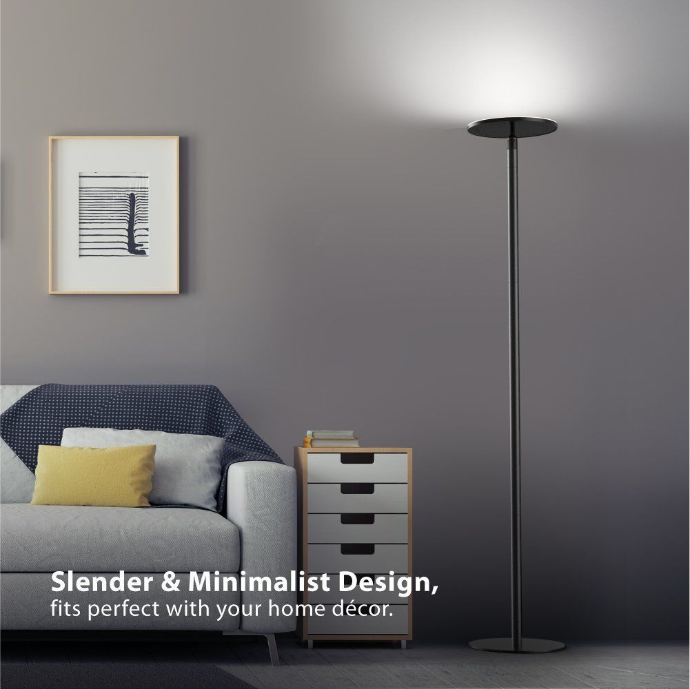 Brightech sky led torchiere floor lamp review led torchiere floor
