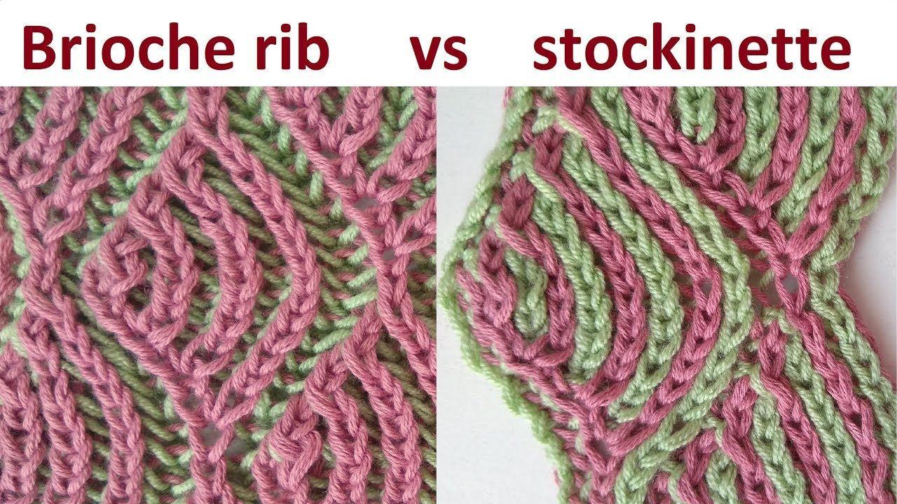 Brioche stockinette, two-color brioche stitch knitting pattern (vs ...
