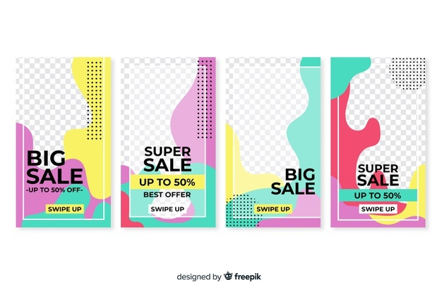 Download Colorful Abstract Sale Instagram Stories For Free Instagram Story Instagram Vector Free