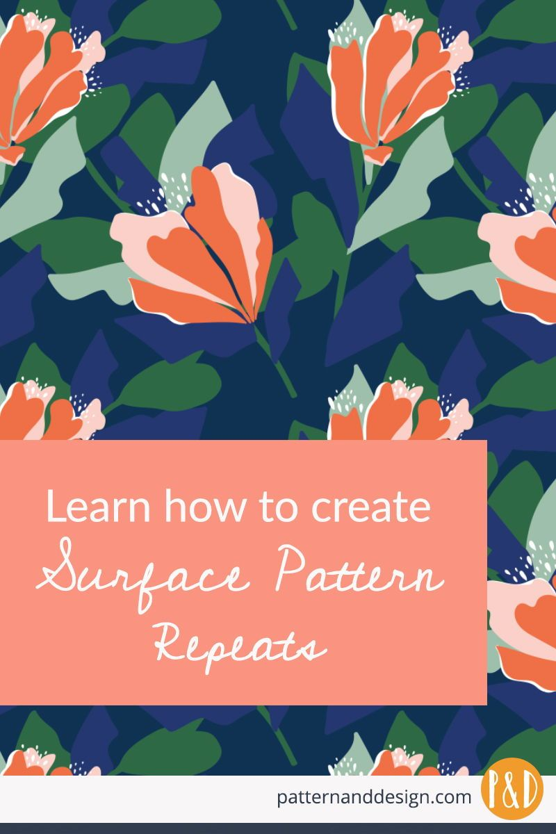 Learn Step By Step How To Create Seamless Surface Pattern Repeats