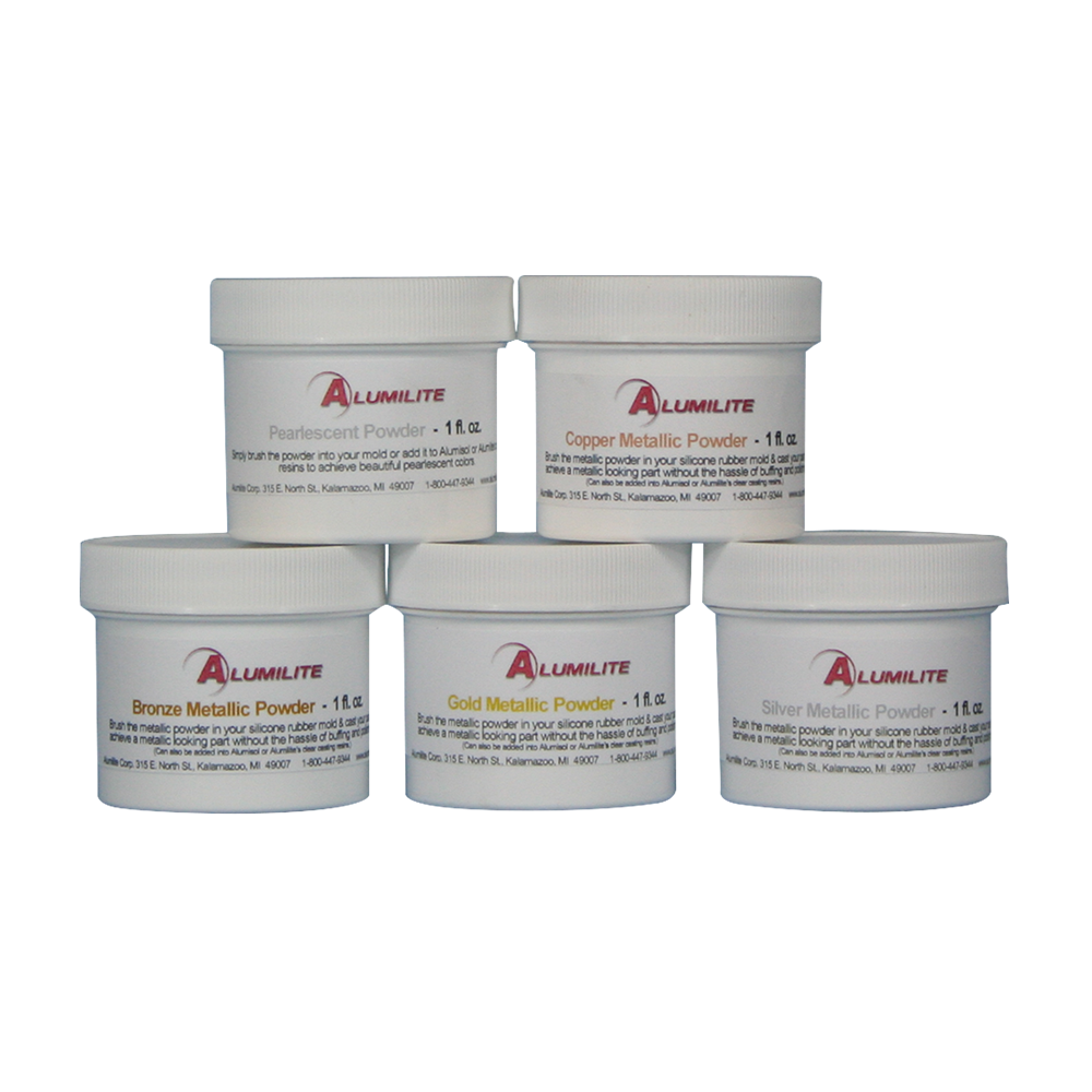 Alumilite Metallic Powder   Resin and Resin molds   Metal