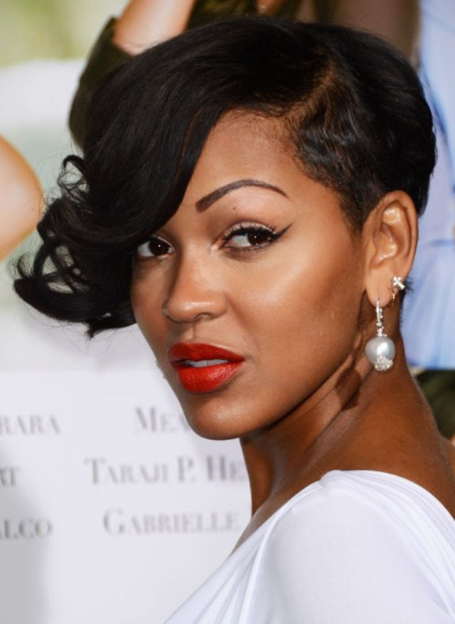 Meagan Good Short Hairstyles On The Game Jpg 640 876 Cool Short Hairstyles Meagan Good Short Hair Cool Hairstyles