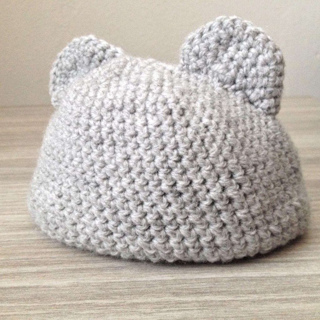 Gehaakt Babymutsje Met Oren Haken Mutsjes Haken Crochet
